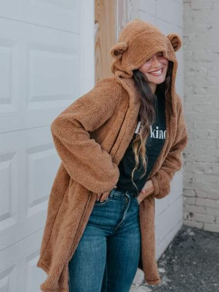 Teddy Jacket With Ears - Boho Buys