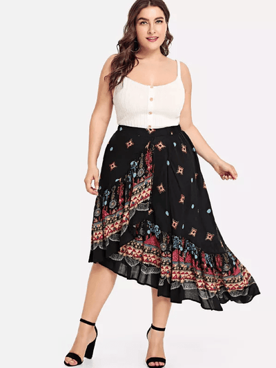 PLUS SIZE My Way Skirt - Boho Buys