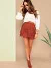Sierra Fringed Skirt - Boho Buys