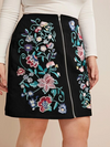 PLUS SIZE Nevada Denim Skirt - Boho Buys