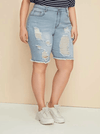 PLUS SIZE Williamsburg Denim Shorts - Boho Buys