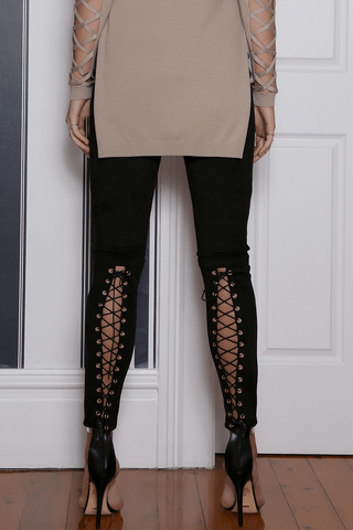 RUNAWAY Seduction Faux Suede Pants