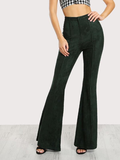 Celestial Faux Suede Pants | Green - Boho Buys