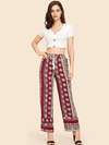 One Desire Pants | BURGUNDY - Boho Buys