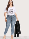 PLUS SIZE Chicago Jeans - Boho Buys