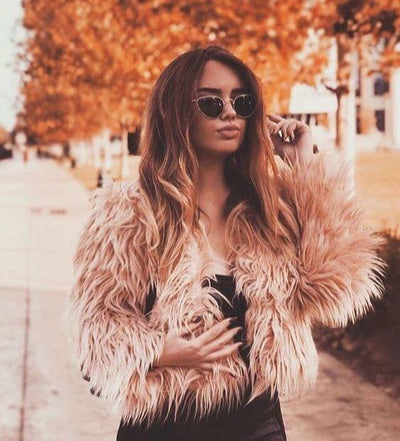 Deadly Sins Faux Fur Jacket - Boho Buys