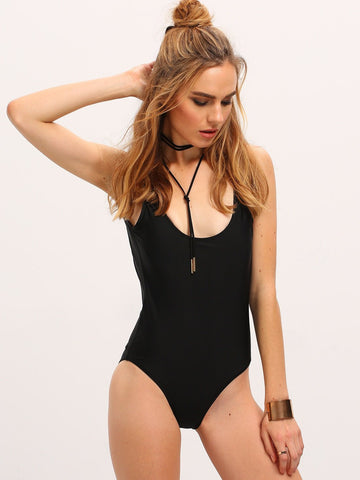 Alpha Backless One Piece | Black