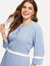 PLUS SIZE Creme Dress - Boho Buys