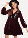 James Velvet Dress - Boho Buys