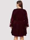 PLUS SIZE James Velvet Dress - Boho Buys