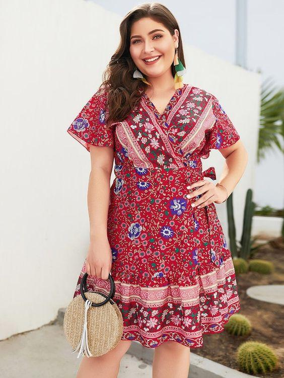 PLUS SIZE Nava Dress | ROSE - Boho Buys