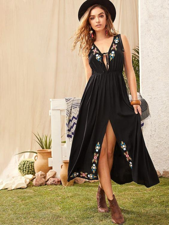 Onyx Maxi Dress | ONE LEFT - Boho Buys