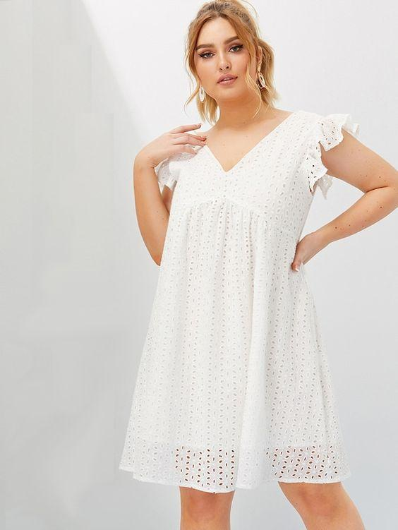 PLUS SIZE Hummingbird Cotton Dress - Boho Buys