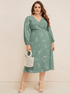 PLUS SIZE Green Tea Dress