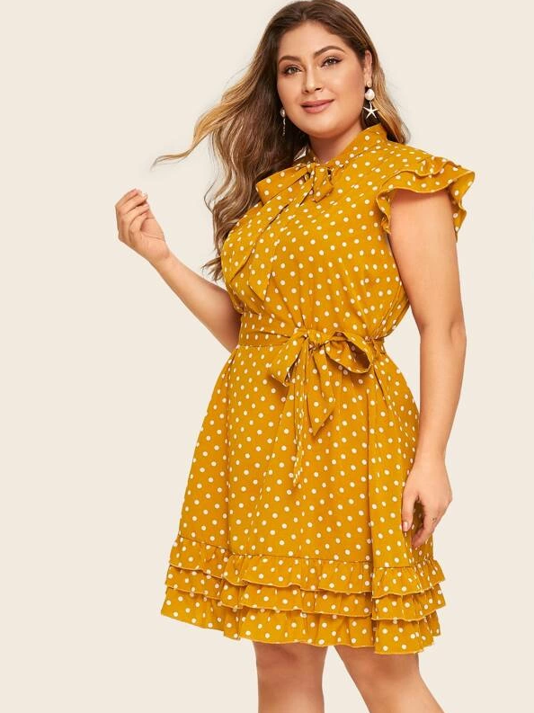 PLUS SIZE Polka Princess Dress - Boho Buys