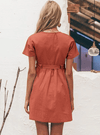 Sanda Linen Blend Dress - Boho Buys