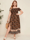 Indira Shirred Dress - Boho Buys