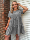 Picnic Gingham Dress | BLACK - Boho Buys