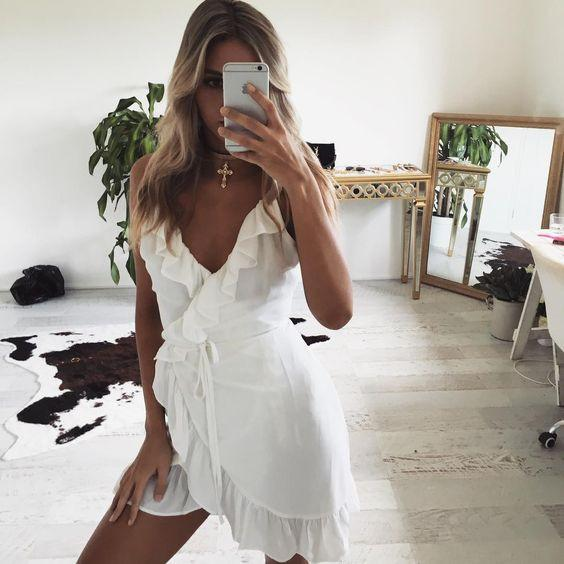 All Summer Long Linen Dress - Boho Buys