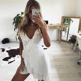 LIONESS All Summer Long Linen Dress