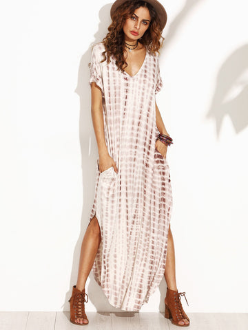 Quicksand Tie Dye Maxi Dress