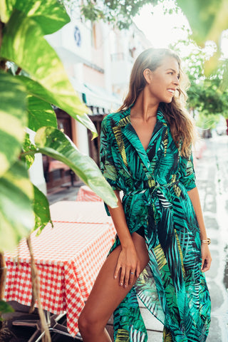 Bahamas Palm Print Dress