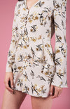 Scattered Florals Bell Sleeve Playsuit - Boho Buys