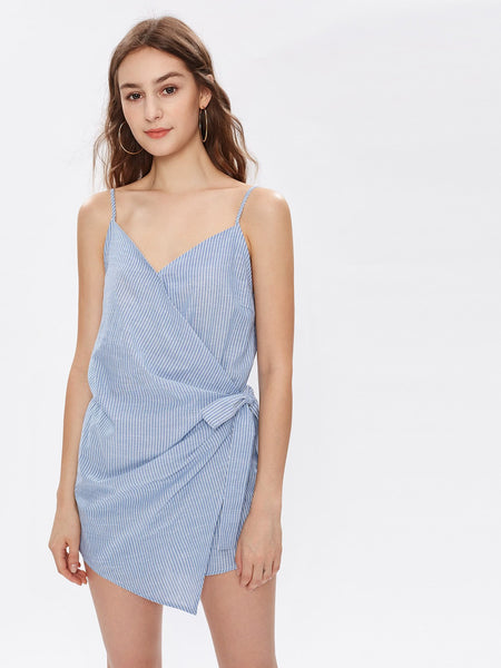Sasha Wrap Cotton Playsuit