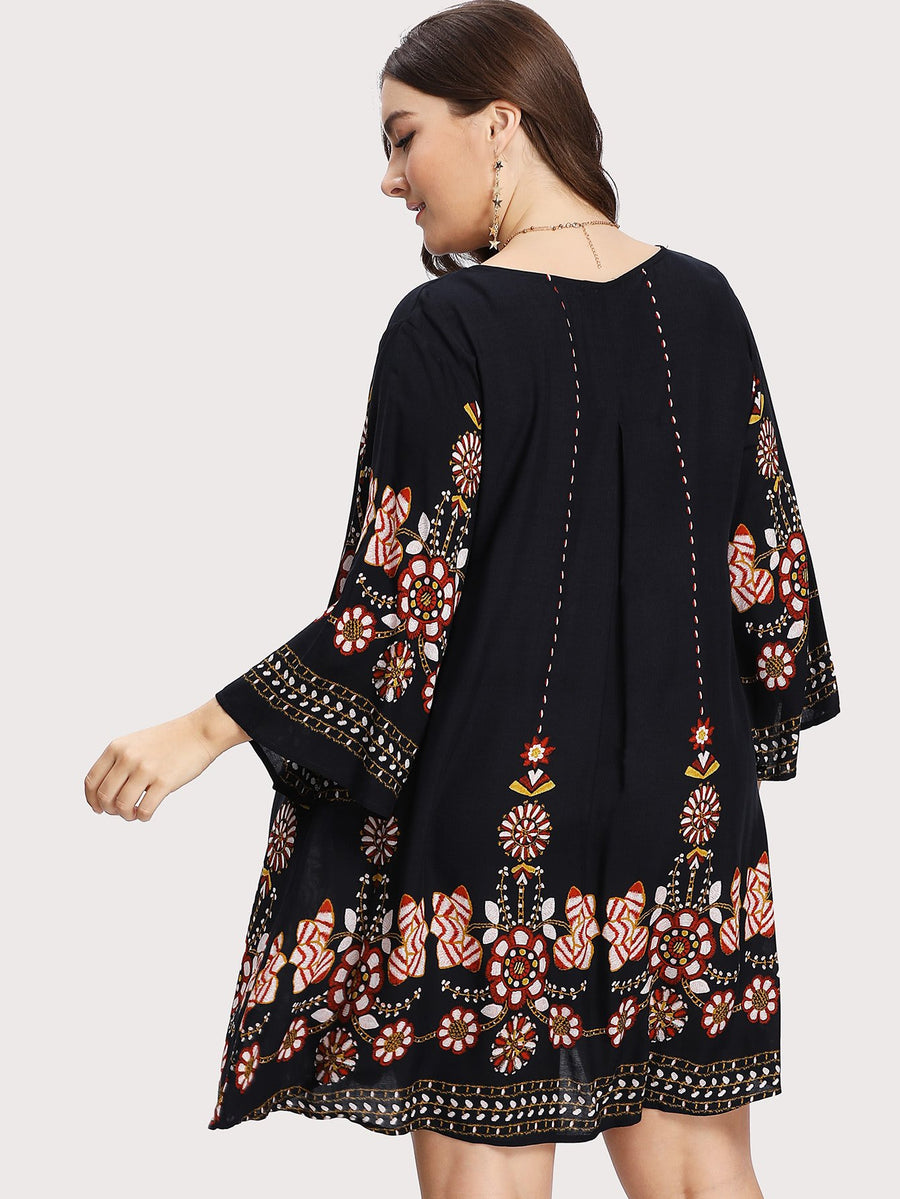 PLUS SIZE Casa Dress - Boho Buys
