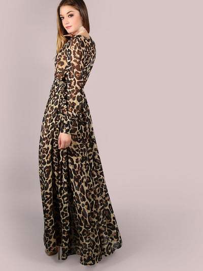 Royalty Leopard Print Maxi Dress - Boho Buys