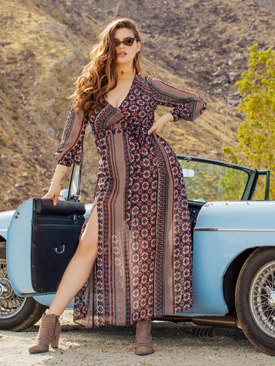 PLUS SIZE Fable Maxi Dress - Boho Buys