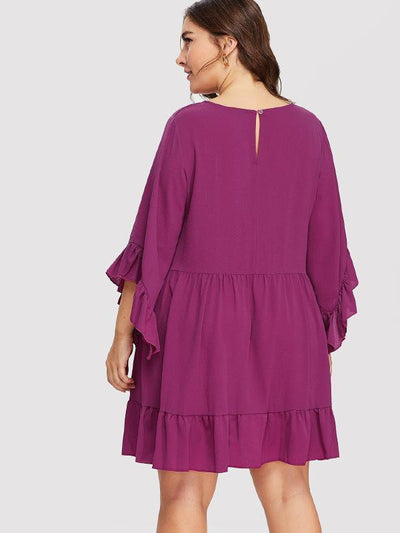 PLUS SIZE Bali Frill Dress - Boho Buys