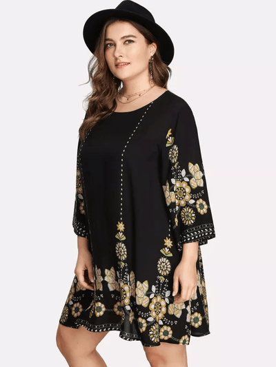 PLUS SIZE Casa Dress | Marigold - Boho Buys
