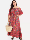 PLUS SIZE Elanora Cold Shoulder Maxi - Boho Buys