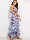 Edie Flounce Maxi Dress - Boho Buys