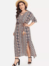 PLUS SIZE Vanessa Maxi Dress - Boho Buys