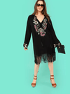 PLUS SIZE Bermuda Fringed Dress - Boho Buys