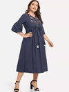 PLUS SIZE Roma Linen Dress - Boho Buys