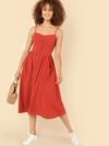 Burleigh Cotton Dress | RUST - Boho Buys