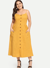 PLUS SIZE Burleigh Cotton Dress | Marigold - Boho Buys