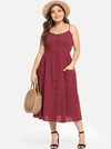 PLUS SIZE Burleigh Cotton Dress | Burgundy - Boho Buys