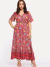 PLUS SIZE Elanora Maxi Dress - Boho Buys