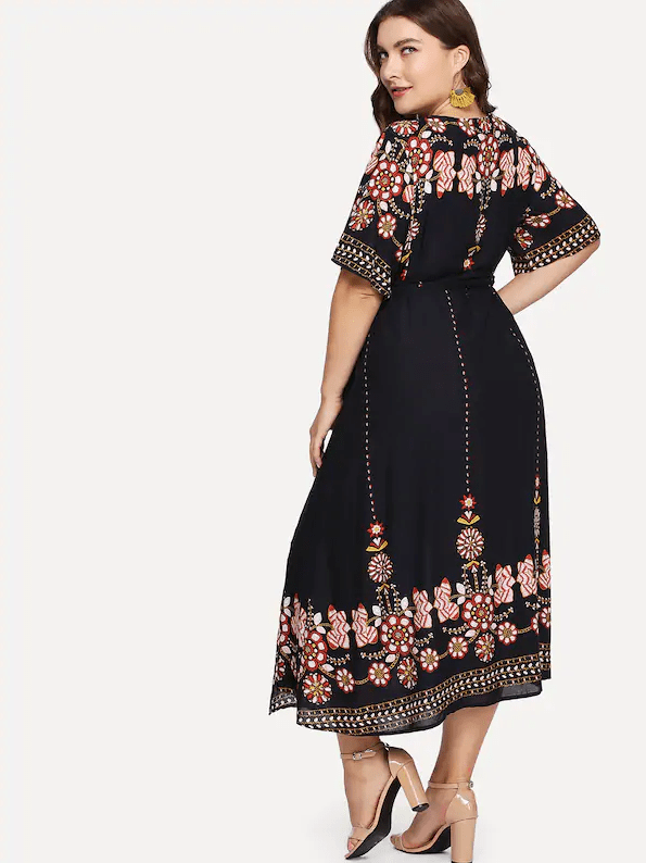 PLUS SIZE Casa Wrap Maxi - Boho Buys