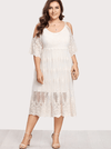 PLUS SIZE White Wine Lace Dress | ONE LEFT - Boho Buys