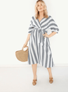 PLUS SIZE Wild Stripe Cotton Dress - Boho Buys