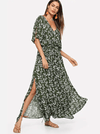 Green Modern Mexicana Dress - Boho Buys