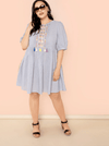 PLUS SIZE Barcelona Cotton Dress - Boho Buys