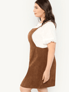 PLUS SIZE Combi Pinafore Dress - Boho Buys