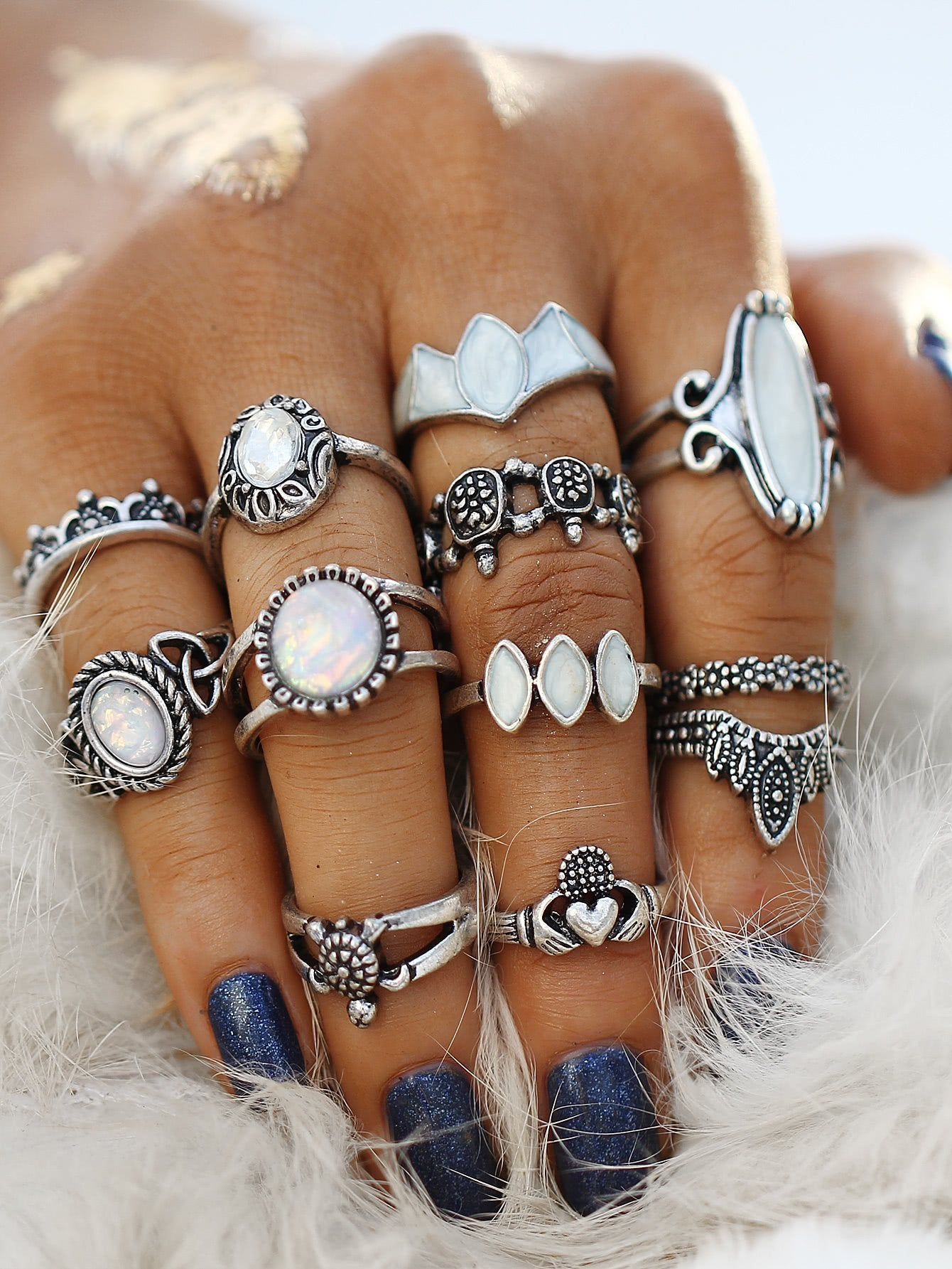 Kingdom Midi Ring Set - Boho Buys