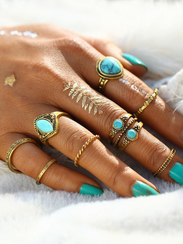 Free Spirit Turquoise Ring Set
